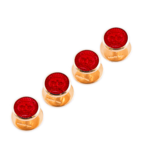 TOYECC - Goldsmiths Gold-Plated Sterling Silver Dress Studs | Red