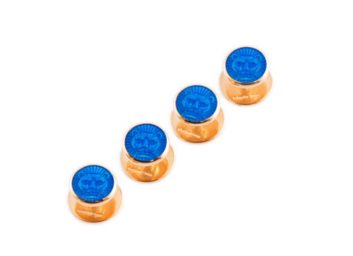TOYECC - Goldsmiths Gold-Plated Sterling Silver Dress Studs | Blue