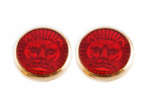 TOYECC - Goldsmiths Gold-Plated Sterling Silver Earrings | Red