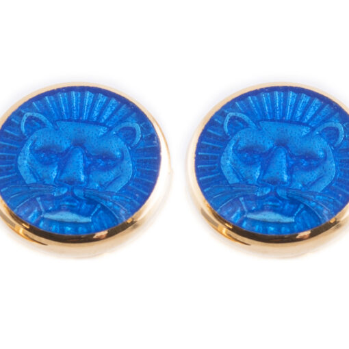 TOYECC - Goldsmiths Gold-Plated Sterling Silver Earrings | Blue