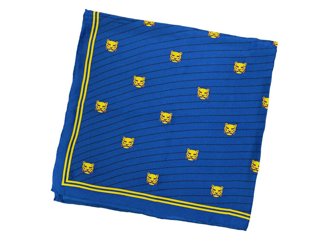 TOYECC - Goldsmiths Member's Pure Silk Scarf | Blue