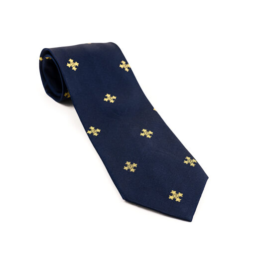 TOYECC - Order of the British Empire (OBE) Woven Silk Tie | Navy Blue