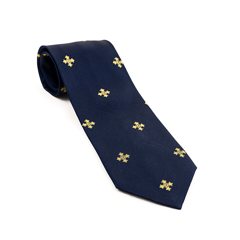 Order of the British Empire (OBE) Woven Silk Tie Navy Blue - Order of the Most Excellent British Empire - OBE Medal for sale
