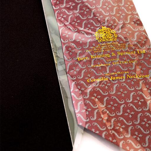 TOYECC - Order of the British Empire (OBE) Woven Silk Tie | Maroon