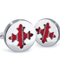 Order of the British Empire (OBE) Rhodium Plated Cufflinks - Order of the Most Excellent British Empire - OBE Medal for sale