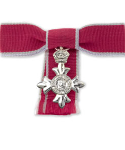 MBE Bow Mounted Ladies Miniature Medal - Member of the Most Excellent British Empire - MBE medal for sale