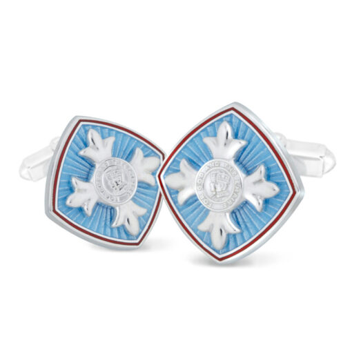 TOYECC - OBE Hallmarked Silver and Vitreous Enamel Cufflinks