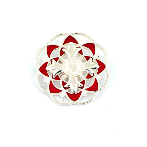 TOYECC - OBE Hallmarked Silver and Vitreous Enamelled Brooch