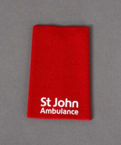 TOYECC - St John Ambulance Non Ranked Plain Rank Slide Red