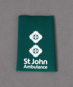 TOYECC - St John Ambulance Officer Grade 5 Rank Slide Green