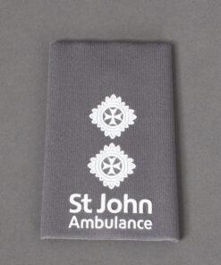 TOYECC - St John Ambulance Officer Grade 5 Rank Slide Grey