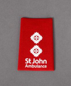 TOYECC - St John Ambulance Officer Grade 5 Rank Slide Red