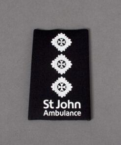 TOYECC - St John Ambulance Officer Grade 4 Rank Slide Black