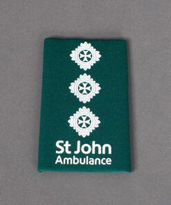TOYECC - St John Ambulance Officer Grade 4 Rank Slide Green