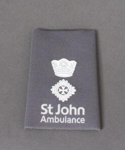 TOYECC - St John Ambulance Officer Grade 2 Rank Slide Grey